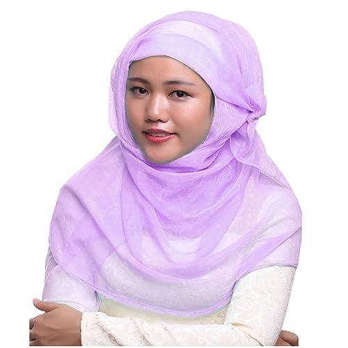 GladThink Muslim extrasize da donna chiffon Hijab sciarpa con più colori