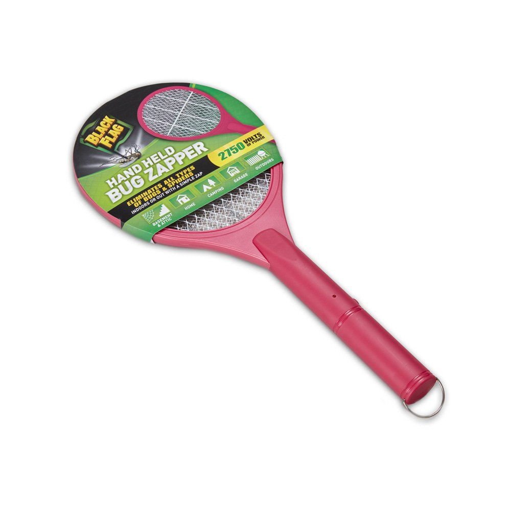 Black Flag Handheld Bug Zapper - Pink PZR-8094