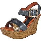 Bruno Menegatti 30140 Women's Leather Wedge Sandal