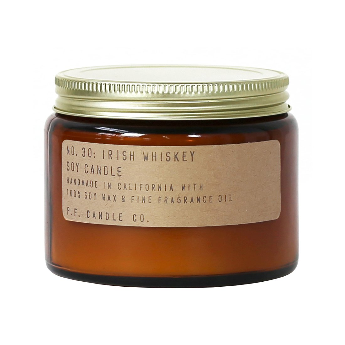 P.F. Candle Co. - No. 30: Irish Whiskey Candle (Double Wick 14 oz)