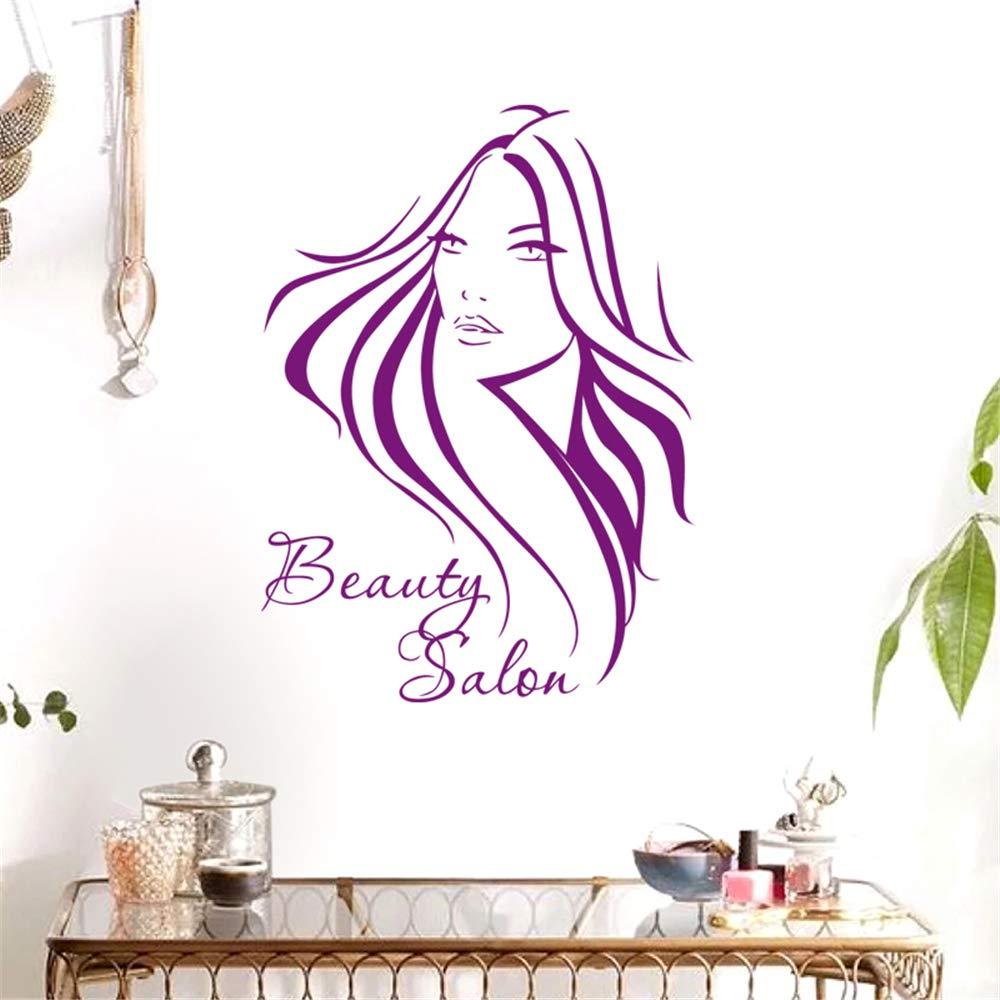 lyclff Salon Sticker Beauty Decal Hair Peluquería Chica Carteles ...