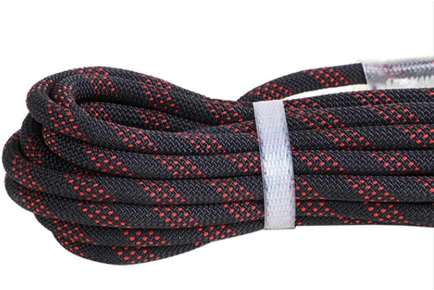 11 Sizes Rope Size : 50M Changde Jun Feng Shop Outdoor Safety Rope Climbing Rope Nylon Rope Climbing Rope Climbing Insurance Rope Black Red 9mm