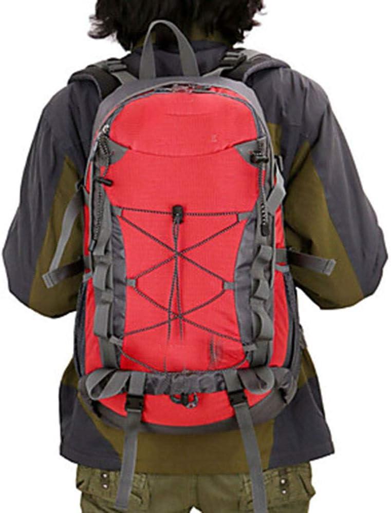 ハイキングバイショルダーバッグナイロン素材耐久性/ハイキングバックパック-防水通気性アウトドアキャンプバックパック/ 40 L 絶妙 (色 : 赤) 赤