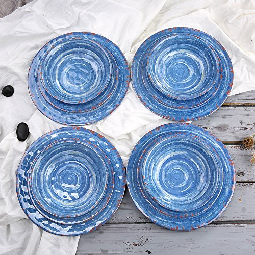 light blue dinner plates - 5