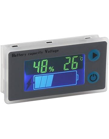 Lispeed Misuratore di Temperatura del Monitor della Batteria del Caricatore USB Doppio del termometro per Auto LED Digitale Blu
