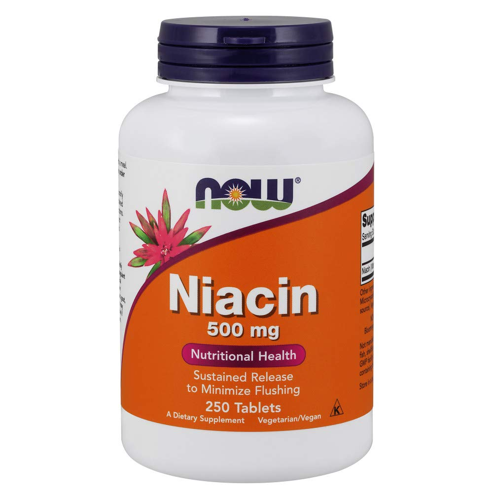 NOW Niacin Sustained Release 250 Tablets