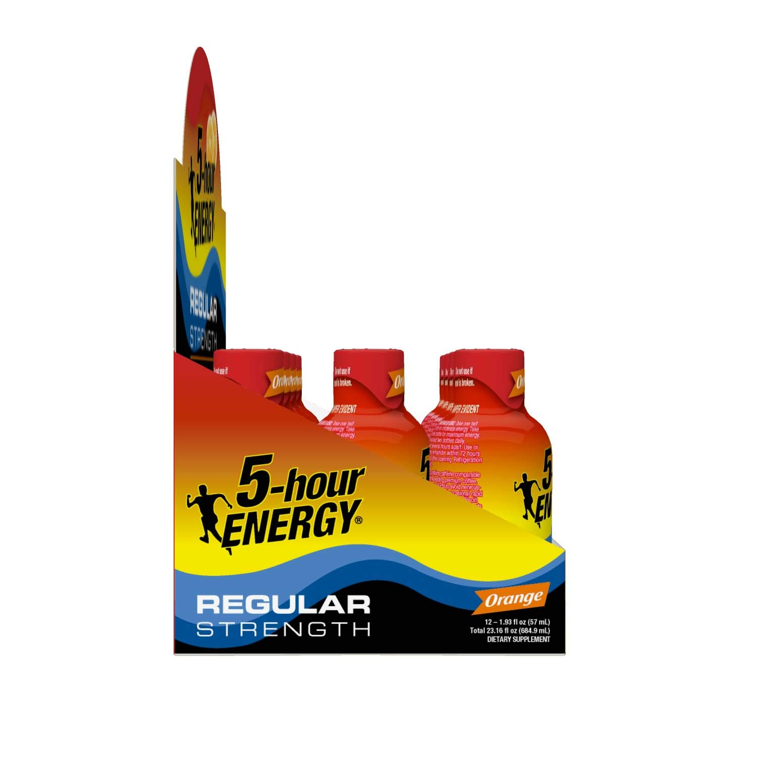 Regular Strength 5-hour ENERGY Shots – Orange Flavor – 12 Count