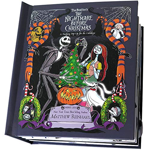 Nightmare Before Christmas Pop-Up Book - Disney Tim Burton 12 Page Hardcover