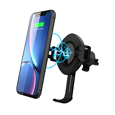 10W Wireless Car Charger Mount, Arteck Air Vent Universal Phone Holder Fast Charging Compatible with iPhone 11/11 Pro/11 Pro Max/XR/XS/XS Max/X/8/8 Plus, Samsung Galaxy S10/ S9/S8/Note 10/Note 9/8: Home Audio & Theater