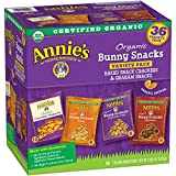 Gourmet Food : Annie's Organic Variety Pack, Cheddar Bunnies and Bunny Graham Crackers Snack Packs, 36 Pouches, 1 oz Each