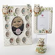 Baby Owl First Year Picture Frame - Trinket Box - Picture Frame Bundle