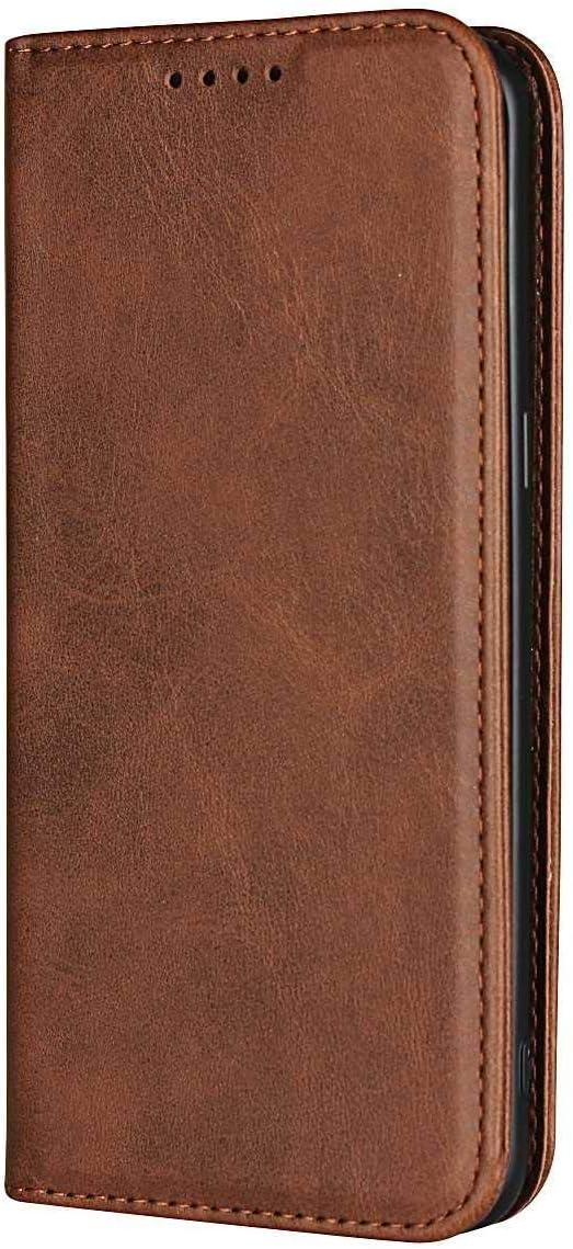 Amarillo Marr/ón SONWO Alta Calidad PU Piel Flip Billetera Cover Carcasa con Ranura para Tarjetas y Cierre Magn/ético para Samsung Galaxy S8 Plus Funda Galaxy S8 Plus