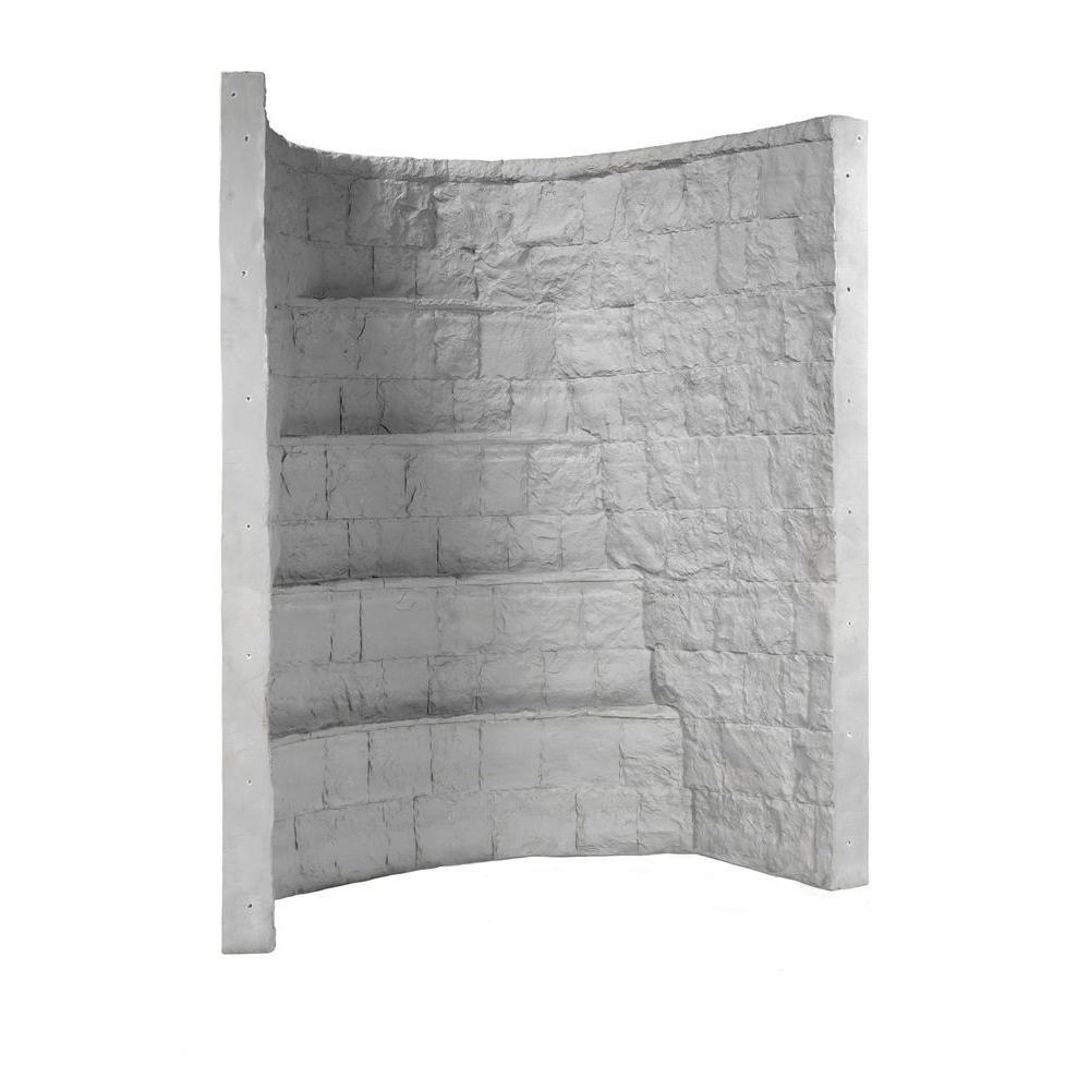 Rockwell 66 in. x 44 in. x 84 in. Grey Elite Composite Window Well