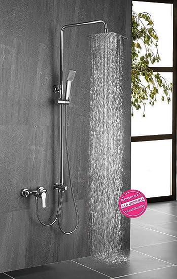 Columna de ducha SIN GRIFERÍA extensible de 80 a 120 cm AZ. Se ...