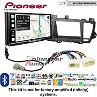 Volunteer Audio Pioneer AVIC-W8400NEX Double Din Radio Install Kit with Navigation, Apple CarPlay and Android Auto Fits 2011-2013 Kia Optima