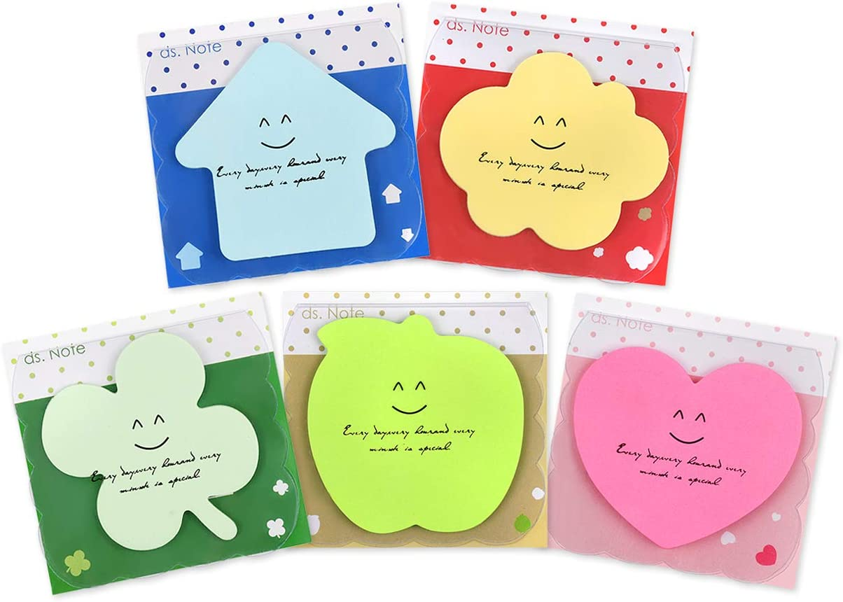 Ds Distinctive Style 20 Packs Self Sticky Notes Cute Memo Pads Bright Colors Adhesive Notepads For School Office Office Products Amazon Com