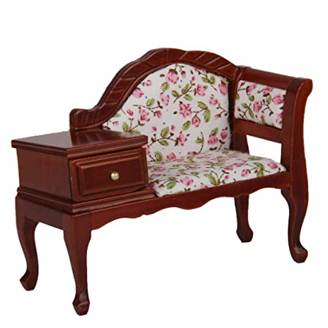 MagiDeal 1/12 Dollhouse Miniature Furniture Wooden Floral Recliner w/ Drawer  sc 1 st  Amazon.com & Amazon.com: MagiDeal 1/12 Dollhouse Miniature Furniture Wooden ... islam-shia.org