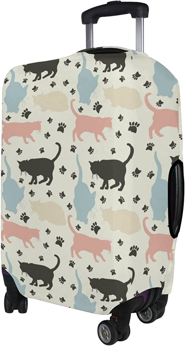LAVOVO Colorful Cats Paw FootLuggage Cover Suitcase Protector Carry On Covers