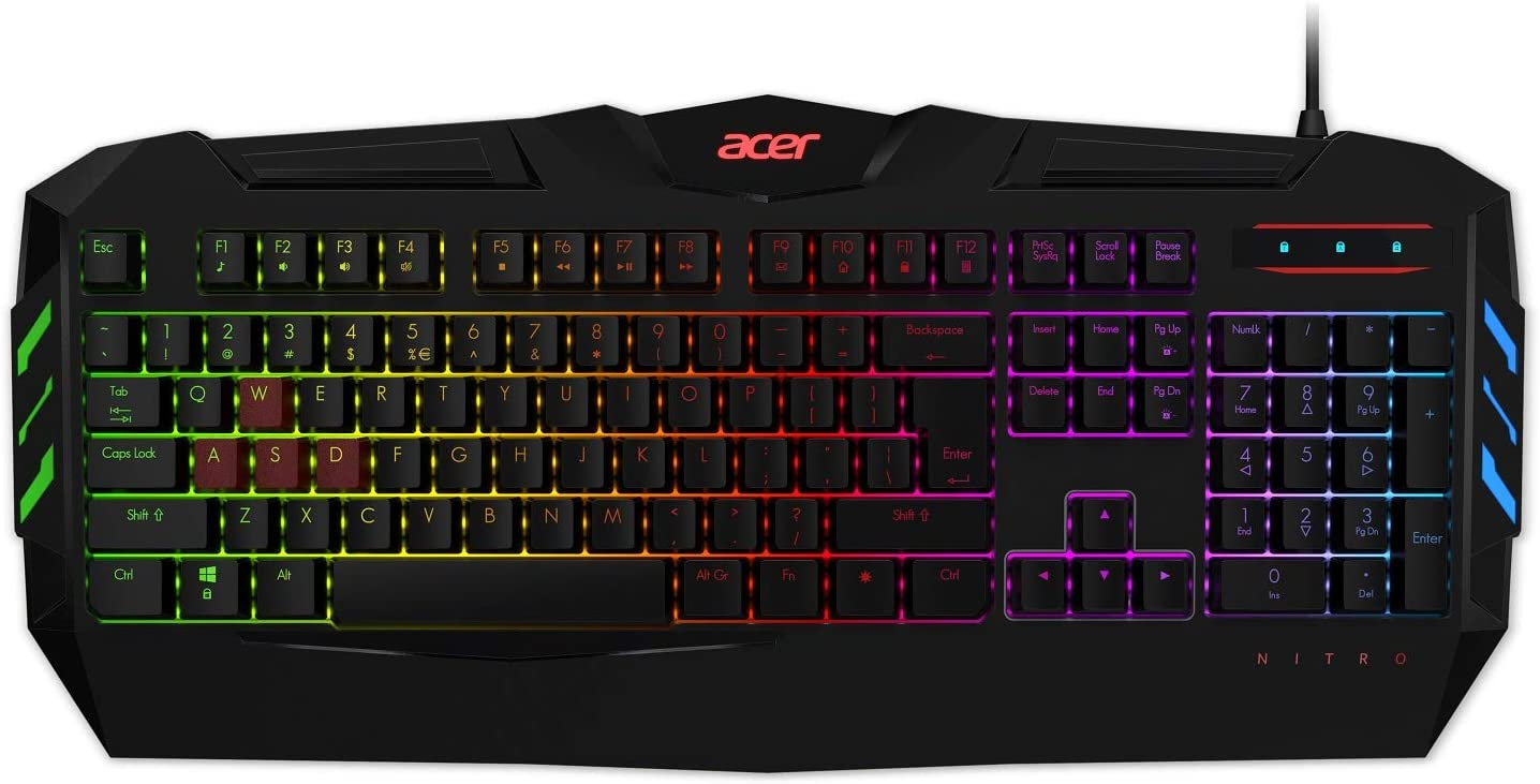 Acer Nitro Gaming 5-in-1 Accessory Bundle Backpack, Headset, Keyboard, Mouse and Mousepad