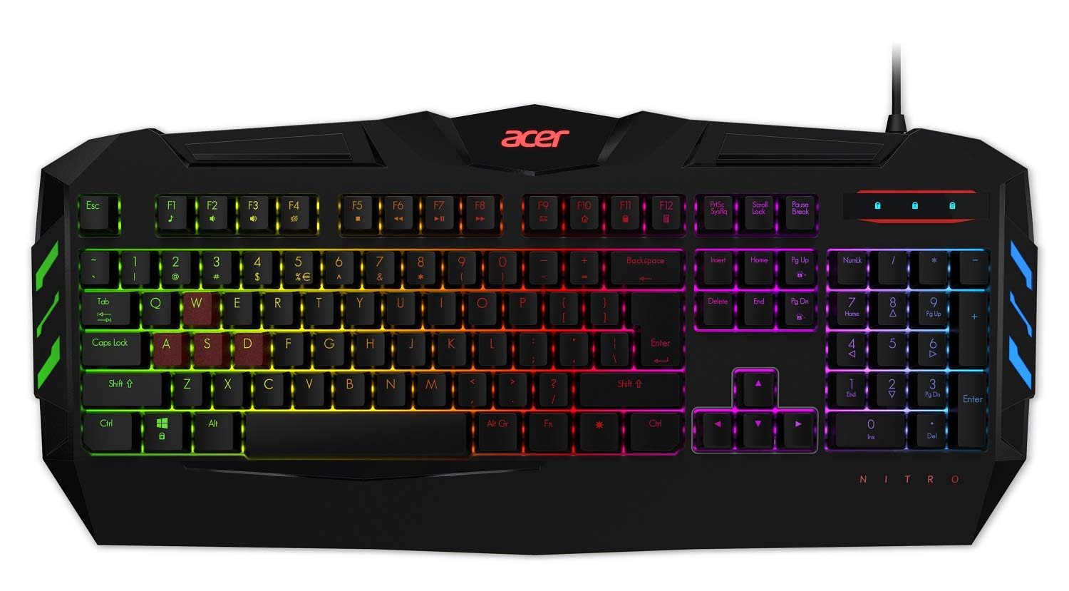 Acer Nitro Gaming Keyboard with Anti-ghosting Support and 6 Modes of Backlight Modes