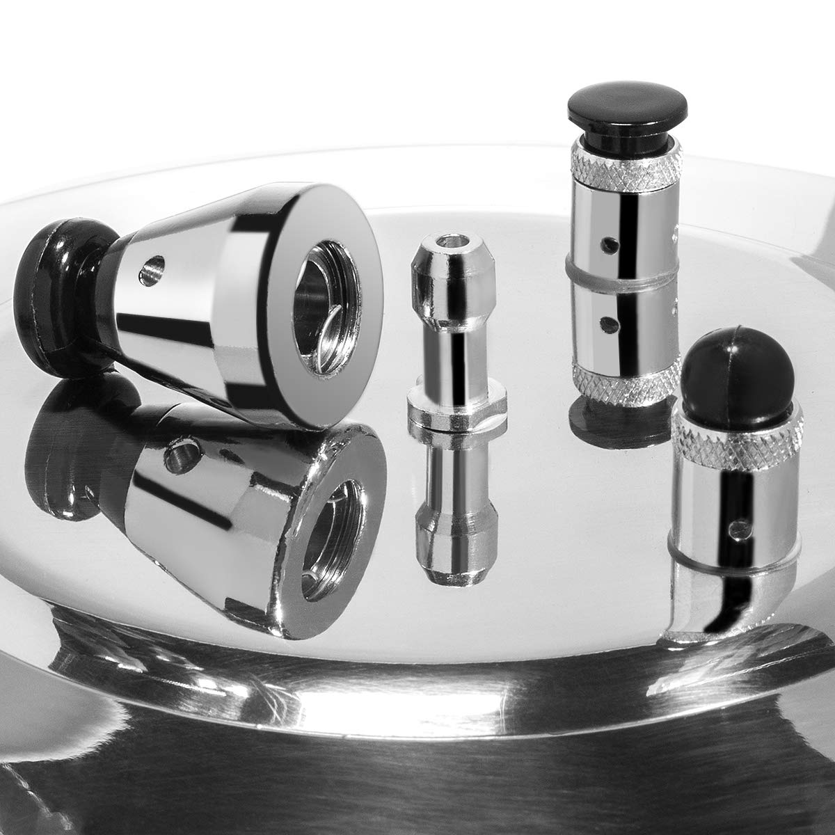 Barton 8-Quart Aluminum Pressure Cooker Stovetop Fast Cooker Pot Pressure Regulator Fast Cooking Steam Release Valve by Barton (Image #4)