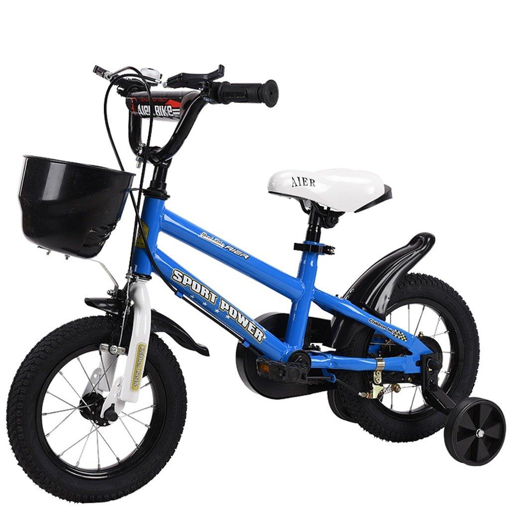 美しい 家チャイルドフォールド自転車3-6-8歳のベビーベビーカー12インチ14インチ16インチ18インチバイク (色 : 青, サイズ さいず : 18Inch) B07CXSY5ZD 18Inch|青 青 18Inch