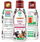 VETERINARIAN DEVELOPED Liquid Hip and Joint Supplement for Dogs w/Glucosamine, Chondroitin, MSM, Hyaluronic Acid and Collagen - Fast Joint Relief for Dogs - Great Taste! -16oz, up to 128 Serv.