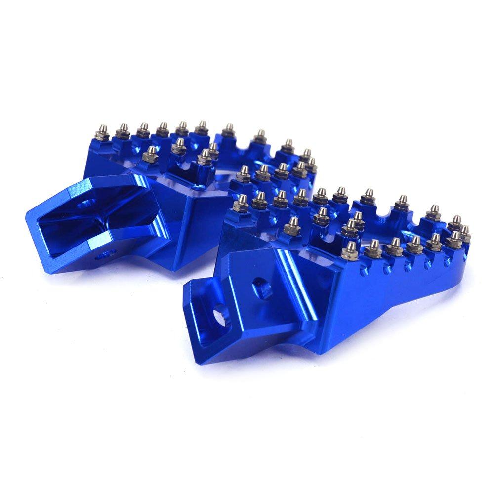 JFG RACING CNC Green Foot Pegs Footpegs Foot Rests Foot Pedals For Kawasaki KX125 KX250 97-01 KX500 88-90