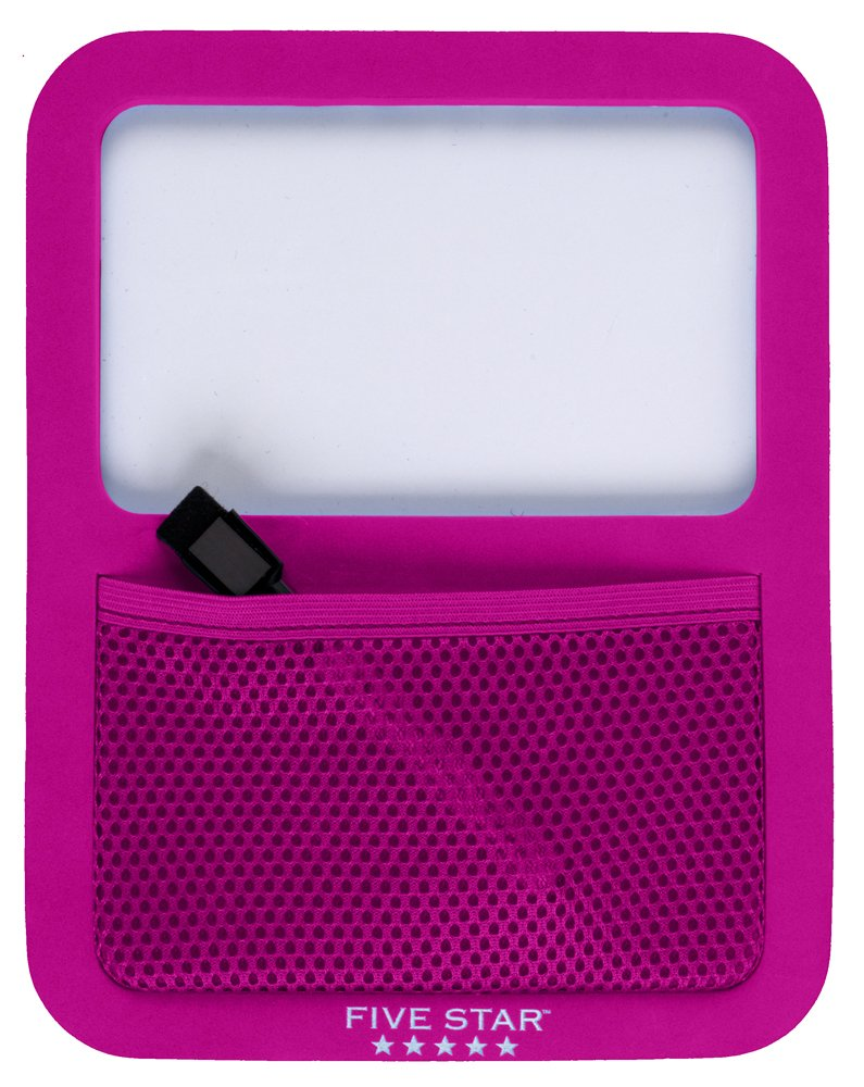 Five Star Locker Accessories, Locker Dry Erase Board with Storage Pocket, Magnetic, Berry Pink/Purple (72594)