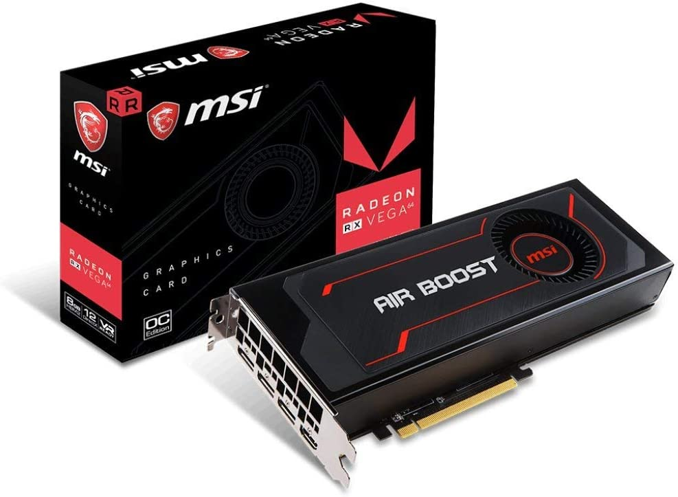 MSI RX Vega 64 AIR Boost 8G OC Computer Graphics Cards (Renewed)