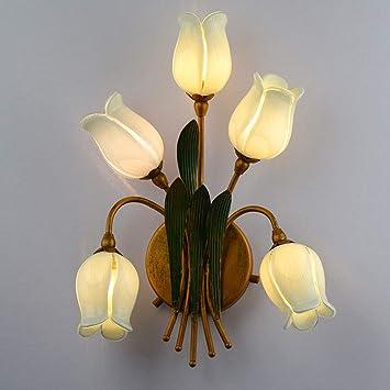 Applique Européen De Wrming Style Murale Romantique Blanc Fleur R43j5ALq