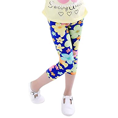 edd9863b64dd32 For 3-8 Years Old,Clode® Cute Baby Girls Kids Flower Printing Capri  Leggings Pants Childrens Summer Trousers Pencil Pants: Amazon.co.uk:  Clothing