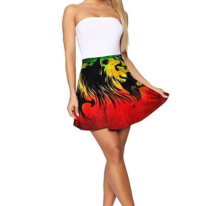 Falda de león jamaiquino (2) Falda Midi para Mujer, no se decolora ...