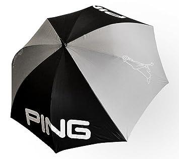 Ping estándar paraguas de golf, color negro y gris