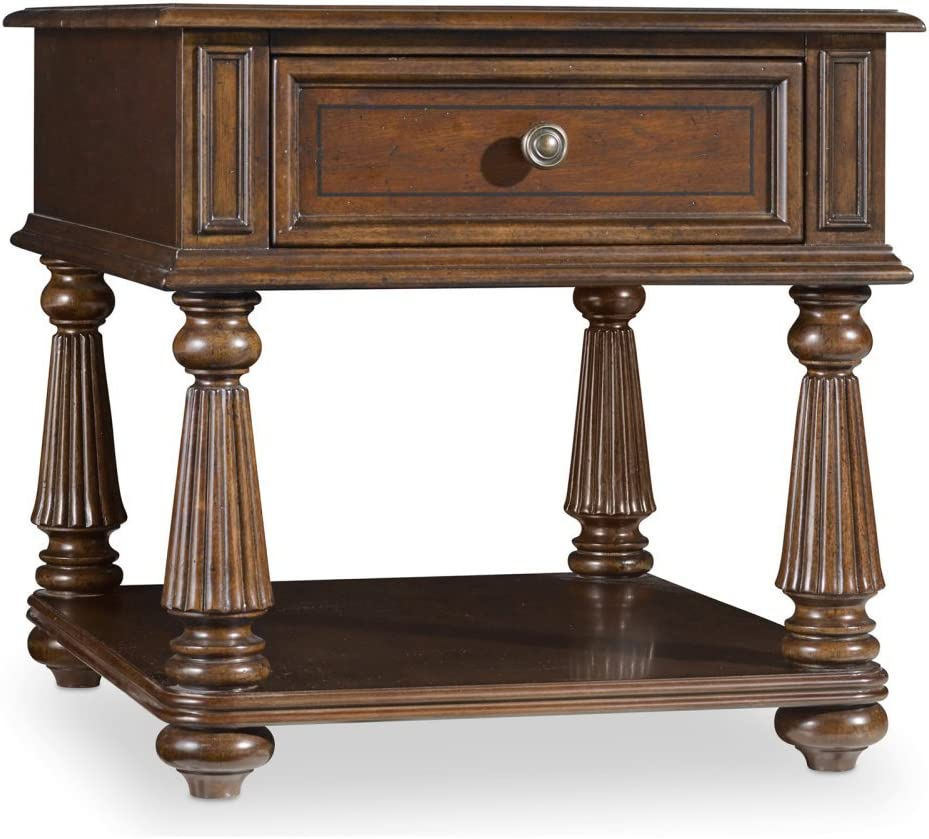 Hooker Furniture Leesburg End Table in Mahogany