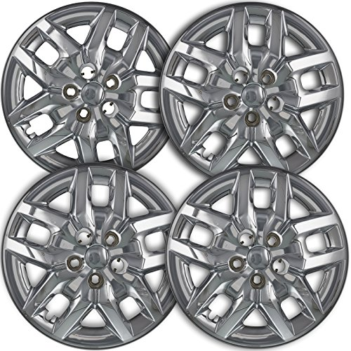 17 inch Hubcaps Best for 2014-2018 Dodge Caravan - (Set of 4) Wheel Covers 17in Hub Caps Silver Rim Cover - Car Accessories for 17 inch Wheels - Snap On Hubcap, Auto Tire Replacement Exterior Cap