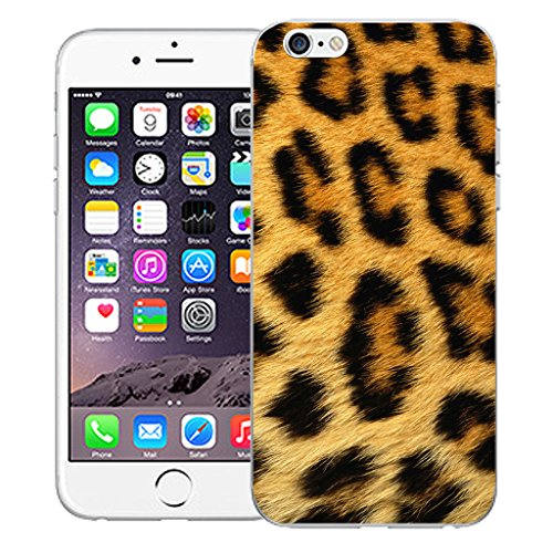 """Mobile Case Mate iPhone 6S Plus 5.5"""" Silicone Coque couverture case cover Pare-chocs + STYLET - Leopard Fur pattern (SILICON)"""
