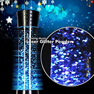 MoreBuyBuy Fashion Design Loud Portable Wireless Bluetooth Speakers Led Light Water Dancing Speaker with Thousands of Glittery Flowers for Desktop Computer and Laptop