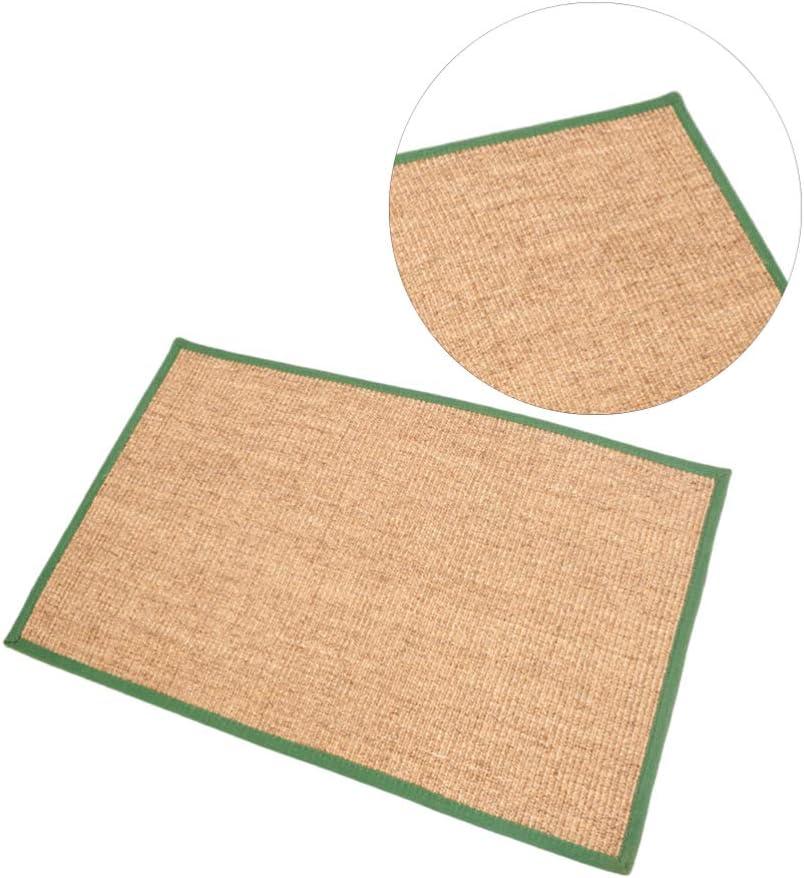 L Random Color Balacoo Cat Scratch Mat Cat Scratcher Mat Natural Sisal Rope Cat Scratching Carpet Pad Floor Scratching Rug