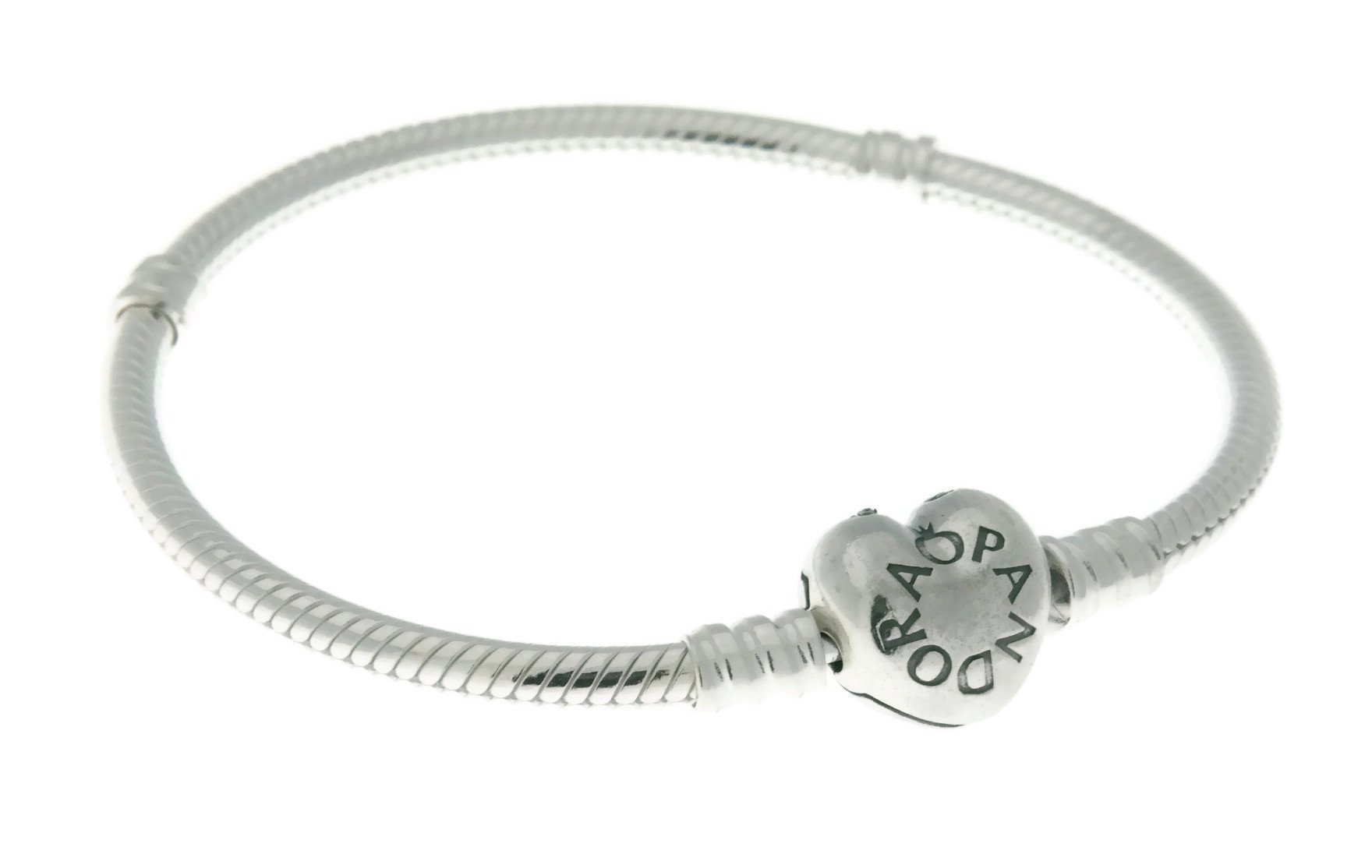 Pandora Moments Silver Bracelet with Heart Clasp 59071920