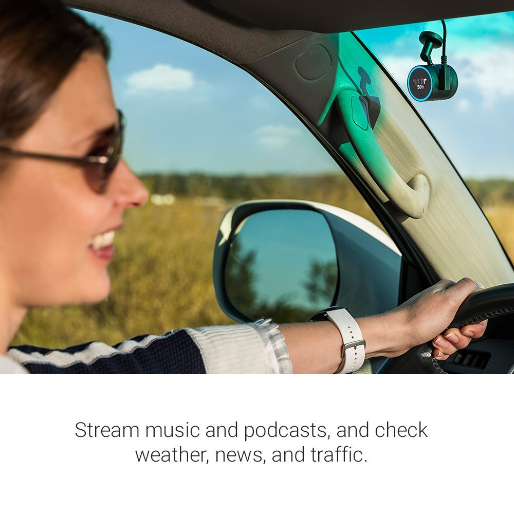 Garmin Speak Plus with Amazon Alexa and built-in Dash Cam, What you love about Amazon Alexa – now in your vehicle, 010-01862-00