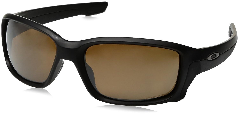 a45de2b03c Amazon.com  Oakley Men s Straightlink Iridium Rectangular Sunglasses Matte  Black w Prizm Tungsten Polarized 61 mm  Oakley  Clothing