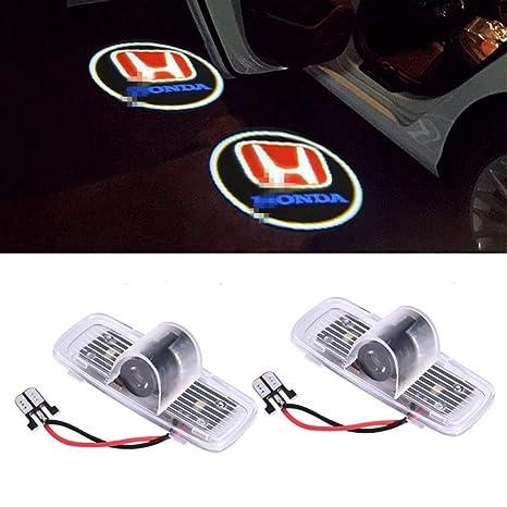 Bienvenido Lámpara, KVCH 2 piezas LED Luz de cortesía Fácil instalación Puerta de coche Logotipo