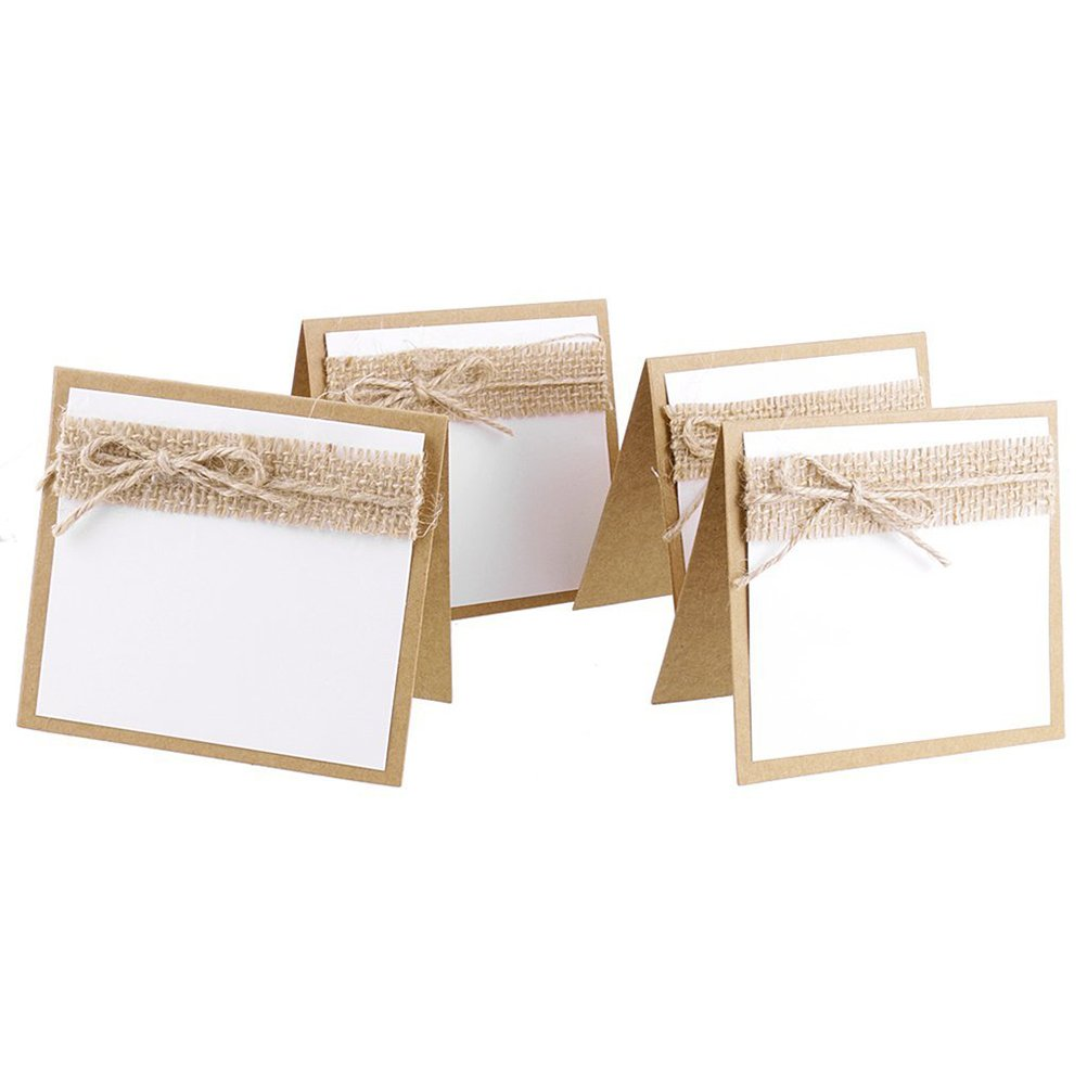 nuolux Cartons de table, 10pcs Nom Table Cartons de table pour mariage Party