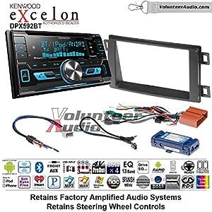 Volunteer Audio Kenwood DPX592BT Double Din Radio Install Kit with Bluetooth, Pandora, Iphone Fits 2014-2016 Mazda CX-5