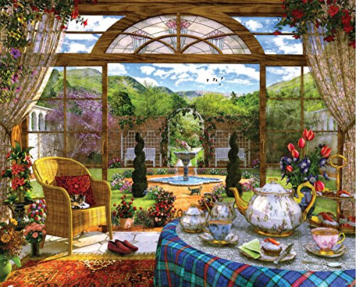 Springbok Puzzles - The Conservatory - 1000 Piece Jigsaw Puzzle - Large 30 Inches by 24 Inches Puzzle - Made in USA - Unique Cut Interlocking Pieces