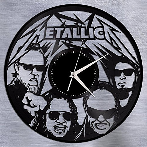 Metallica Music Vinyl Record Wall Clock Gift For Boys And Girls Great Idea  Home Decor Vintage