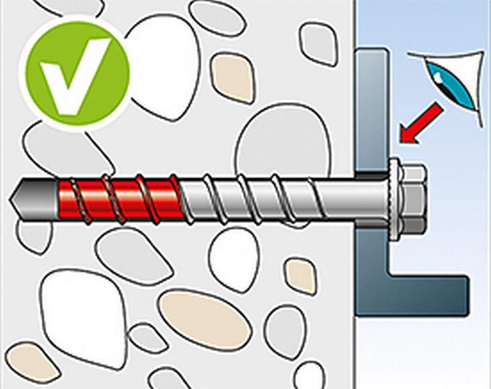 Metallprofilen fischer ULTRACUT FBS II 10x120 65//55//35 SK 536888 Art.-Nr Betonschraube zum Befestigen von Gel/ändern 50 St/ück Regalanlagen in Beton