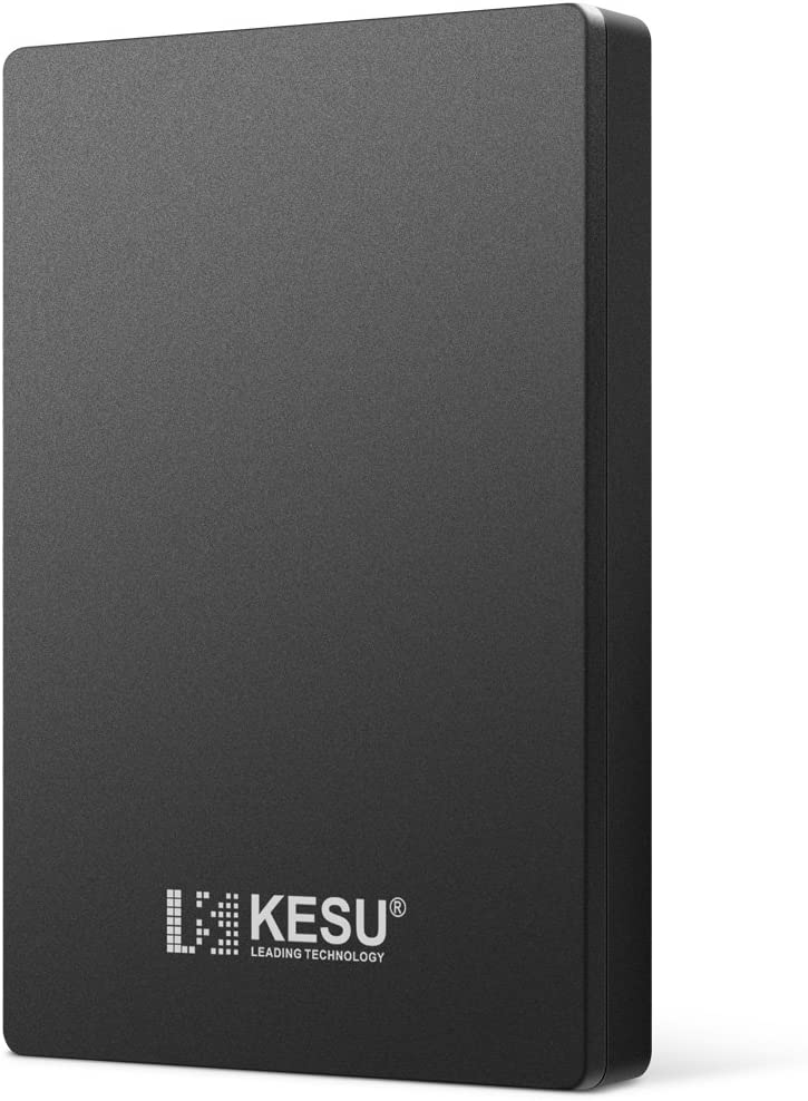 "KESU 2.5"" 500GB External Portable Hard Drive USB3.0 for PC, Mac, Desktop, Laptop, Wii U, Xbox, PS4 (Black)"