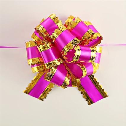 10pcs Beauty Organza Ribbon Pull Bows Wedding Car Decor Gift Wrap Floristry UK